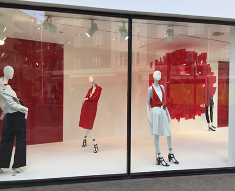 shop window decoration, showcase design, decoration,exhibitions